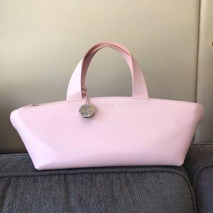 Furla pink leather boat bag